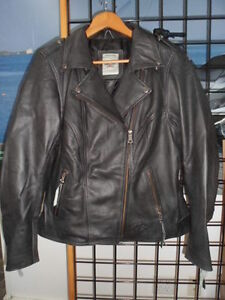 NOS Harley Davidson Womens Legacy Biker Black Leather Jacket 98059-13VW