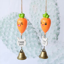 Lovely Carrot Expression Shape Wind Chime Bedside Hanging Rattle Decoration