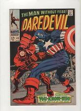 Daredevil #43, VF+ 8.5, 1st Cap Daredevil Batle,1st Print, 1968, See Scans