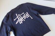 Stussy basic crew sweatshirt | M | Black pink | streetwear Skate STÜSSY