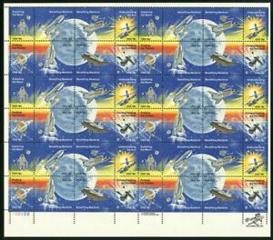 Space Achievement Issue Sheet of Forty Eight 18 Cent Stamps Scott 1912-19