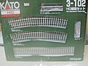 HO KATO UNITRACK PRECISION RAILROAD MODELS CURVED & STRAIGHT TRACK W/ RERAILER