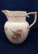 Pearlware Spiral Fluted Jug J and W Turner Roses and Long Leaf pattern 122 1795