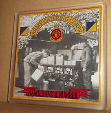 Army Catering Corps coasters (pack of 4) free postage.