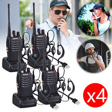 4X Baofeng BF-888S Radio Long Range Walkie Talkie 2-Way 16CH UHF 400-470MHZ