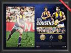 Ben Cousins Signed West Coast Eagles AFL Signed Career Litho Framed + 3 Medals