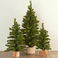 Factory Direct Craft Group Artificial Small Pine Christmas Trees Wood Bases
