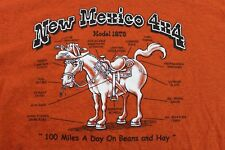 'New Mexico 4x4' large orange New Mexico souvenir T shirt