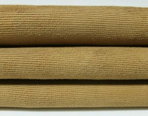 CAMEL SAND SUEDE TEXTURED Italian Lambskin Lamb leather skin 4sqf 0.9mm #A4750