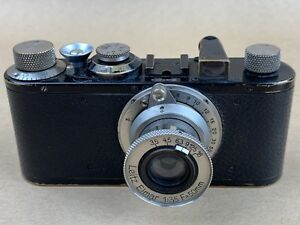 LEICA I Standard Black Vintage 1931 camera w/ 50mm F/3.5 Elmar #66203 - Rare
