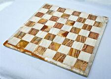Prezioso scacchi, mano lavorato pezzo da Onix-pietre naturali, 43,5x43,5cm