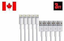 6x iPhone 7 6 6S iPhone 5 5S 5C SE 8Pin USB Charger Lightning Cables 3ft AAA