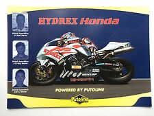 Karl Harris and Guy Martin Unsigned Hydrex Honda Poster BSB 1.