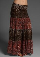 New! Polyvore Blu Moon leopard/red floral boho almost famous maxi skirt sz 1$158