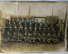 WW1 South Wales Borderers Western Front group photo in dugout 9.5 x 7 inch