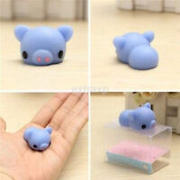 Blue Piggy Squishy Squeeze Pig Cute Healing Toy Kawaii Collection Stress Relieve