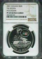 2001 CANADA $20 -THE SCOTIA - NGC PF69 UC /w BOX & COA - HOLOGRAM