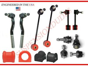 14PC Sway Bar Link Ball Joint Tie Rod End Kit FITS 2007-2018 Jeep Wrangler