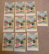More details for job lot 10 vintage postcards cute children spring flowers unposted unused poppy