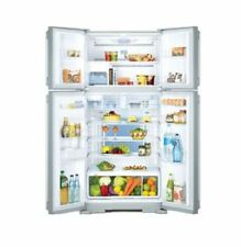 HITACHI 563L 4 Door French Door Fridge Refrigerator Inverter Tech White Glass