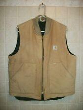 Carhartt Vintage Men's Hunting / Work Vest Quilted Lined Brown Vq186 Tan Size L