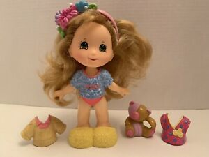 Fisher Price Snap N Style Doll Blonde With 6 Accessories Clothes Teddy Bear Lot