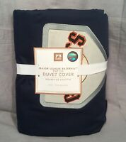 Pottery Barn PB Teen Navy S.F. Giants MLB Patch Twin Duvet Cover+1 Standard Case