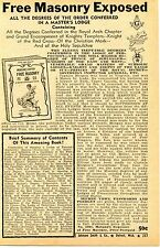 1948 small Print Ad of Captain Morgan's Free Masonry Exposed Knights Templar