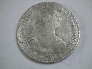 Pièce Espagne ; 8 réales argent Carolus IIII 1798