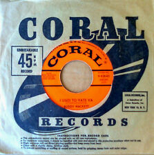 BUDDY HACKETT - I USED TO YATE YA b/w THE SONG MY MOTHER.. - CORAL 45