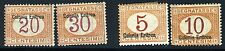 ITALY COLONY ERITREA POSTAGE DUE  MINT HINGED LOT AS SHOWN