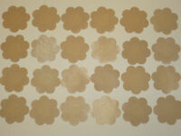 24 Pairs New SATIN Pasties BREAST Nipple PETAL COVER One size Fullness Beige