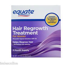 Equate WOMEN - Hair Regrowth Minoxidil 2% Topical Solution - 6 MONTHS (2 BOXES)
