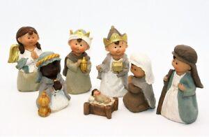 Krippenfiguren Set 7 teilig Figuren bis 10 cm Josef Maria Jesus Krippe