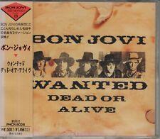 Bon Jovi  CD-SINGLE  WANTED DEAD OR ALIVE   ©  1986   JAPAN
