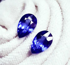 Loose Gemstone 8 to 9 Cts Natural Pear Tanzanite Pair Certified Gemstone