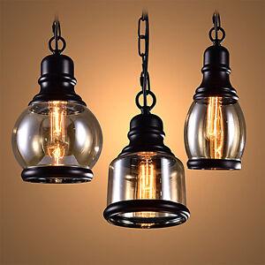 Retro Loft Industrial Bar Corridor Glass Pendant Lamp Cafe Ceiling Light
