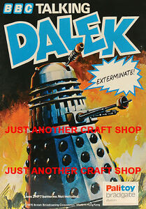 Dr Who Dalek 1975 Vintage Poster A3 Size Leaflet Advert Shop Display Sign