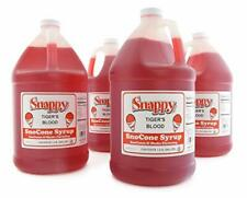 Snappy Tigers Blood Sno Cone Syrup 1 Gallon 4 Pack
