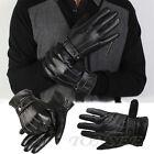 Luxury NEW Mens Leather Winter Super Driving Warm Gloves Cashmere Vogue Gloves