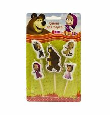 Festive Candles Of Figures, Masha Bear Party Toppers, Birthday Parties, For Cake
