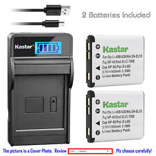 Kastar Battery LCD Charger for Nikon EN-EL10 MH-63 & Nikon Coolpix S200 Camera