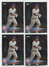 Willson Contreras Topps Chrome 2018 Base Parallel 4 Card Lot Chicago Cubs #197