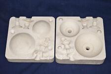 Vtg Ceramic Pottery Slip Casting Mold - 1964 Duncan - Compote with Cherub #153