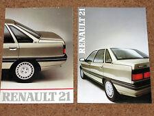 2 x RENAULT 21 brochures commerciales 1986-TL TS GTS TXE RX GTD Turbo D