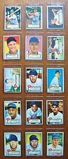TOPPS 1952 MLB BASEBALL ~ 15 Unique Cards from CINCINNATI REDS Team