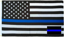 Wholesale Combo 3x5 Police USA Memorial Flag & Thin Blue Line Decal Sticker