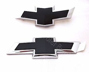 Front and Rear Black Bowties 2017-2018 Chevy Cruze Hatchback OEM GM 84151500