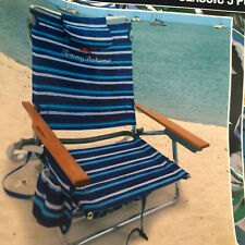 Tommy Bahama Classic 5  Way Position Beach Chair Insulated Beverage Holder NEW