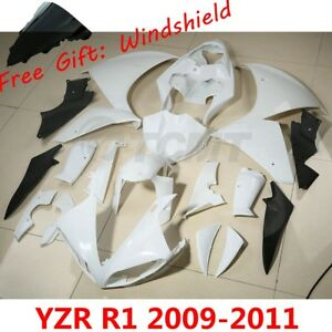 INJECTION Unpainted ABS Plastic Fairing Bodywork Kit Fit For Yamaha YZF-R1 98-11